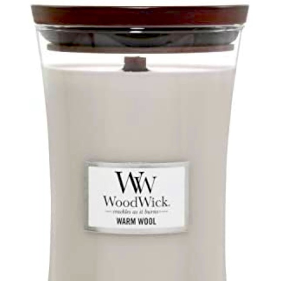 WoodWick Large Hourglass Warm Wool Candle